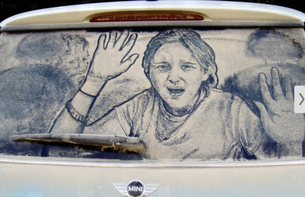Художник, что рисует…на автомобилях !